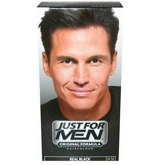 Picture of Just for Men Natural Real Black shampoo in Haircolour H-55