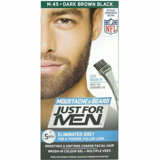 Picture of Just For MEN M45 Moustache and Beard Natural Dark Brown-Black