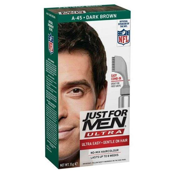 Picture of Just for Men Hair Dye, A45 – Dark Brown, Men's Ultra Hair Colour